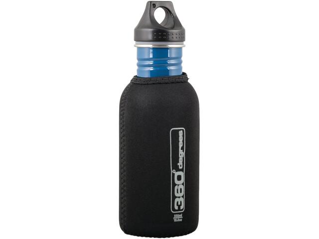 360° degrees Stainless Drink Bottle Neoprene Pouch 0.5 l black